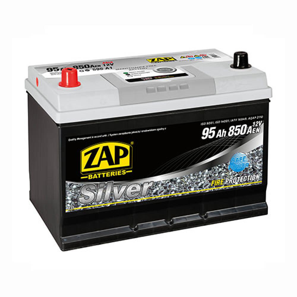 Автомобильный аккумулятор ZAP Silver Calcium Asia (595 A1) 95Аh 850А L+