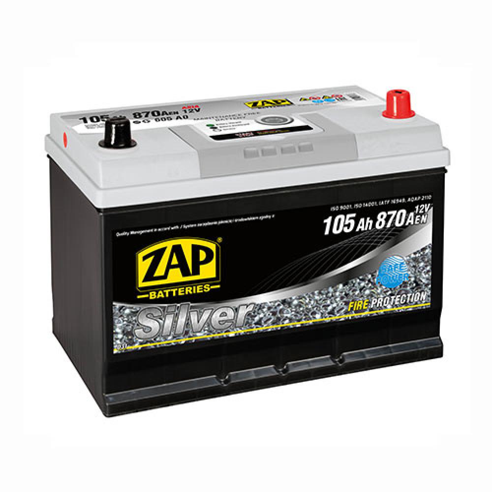 Автомобильный аккумулятор ZAP Silver Calcium Asia (605 A0) 105Аh 870А R+