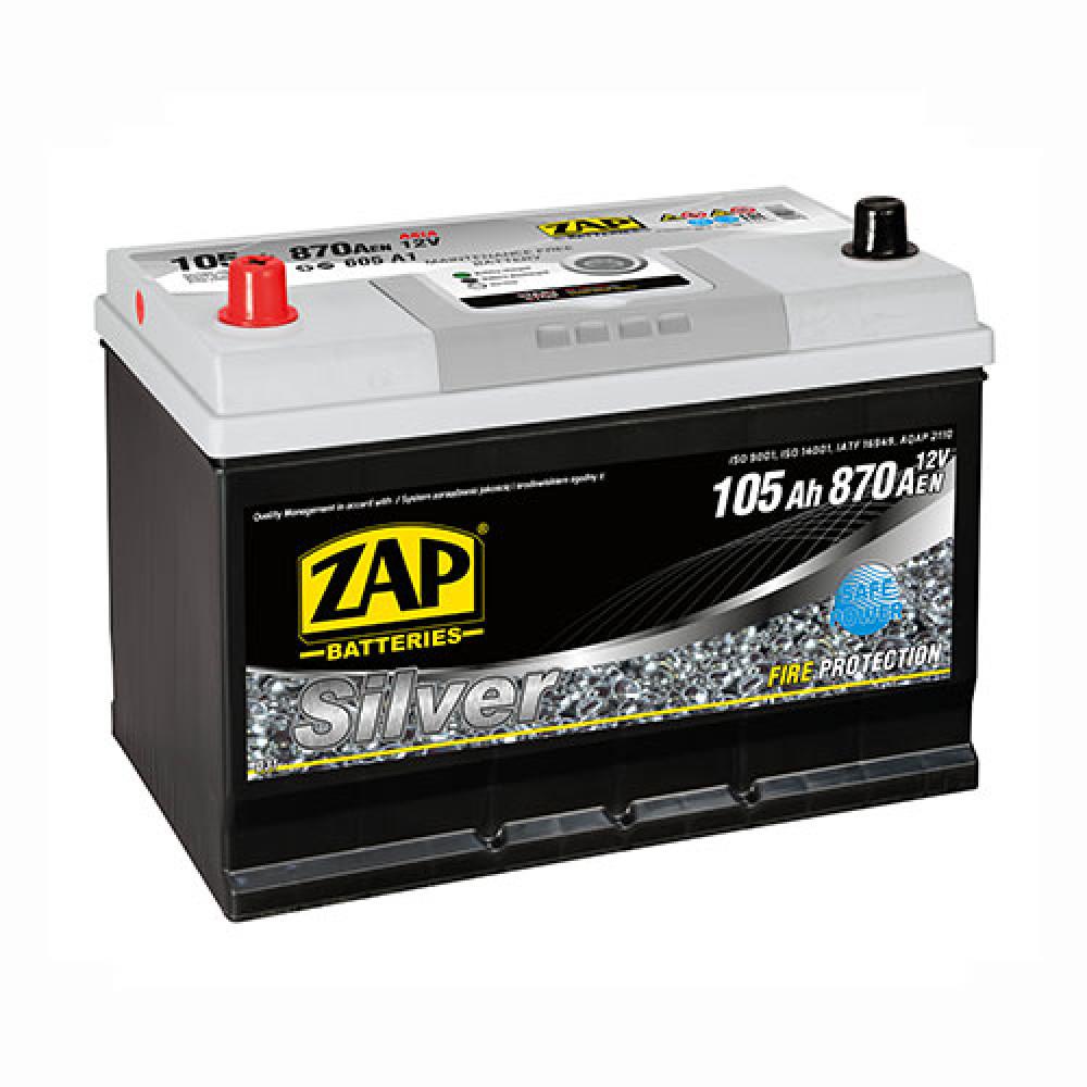 Автомобильный аккумулятор ZAP Silver Calcium Asia (605 A1) 105Аh 870А L+