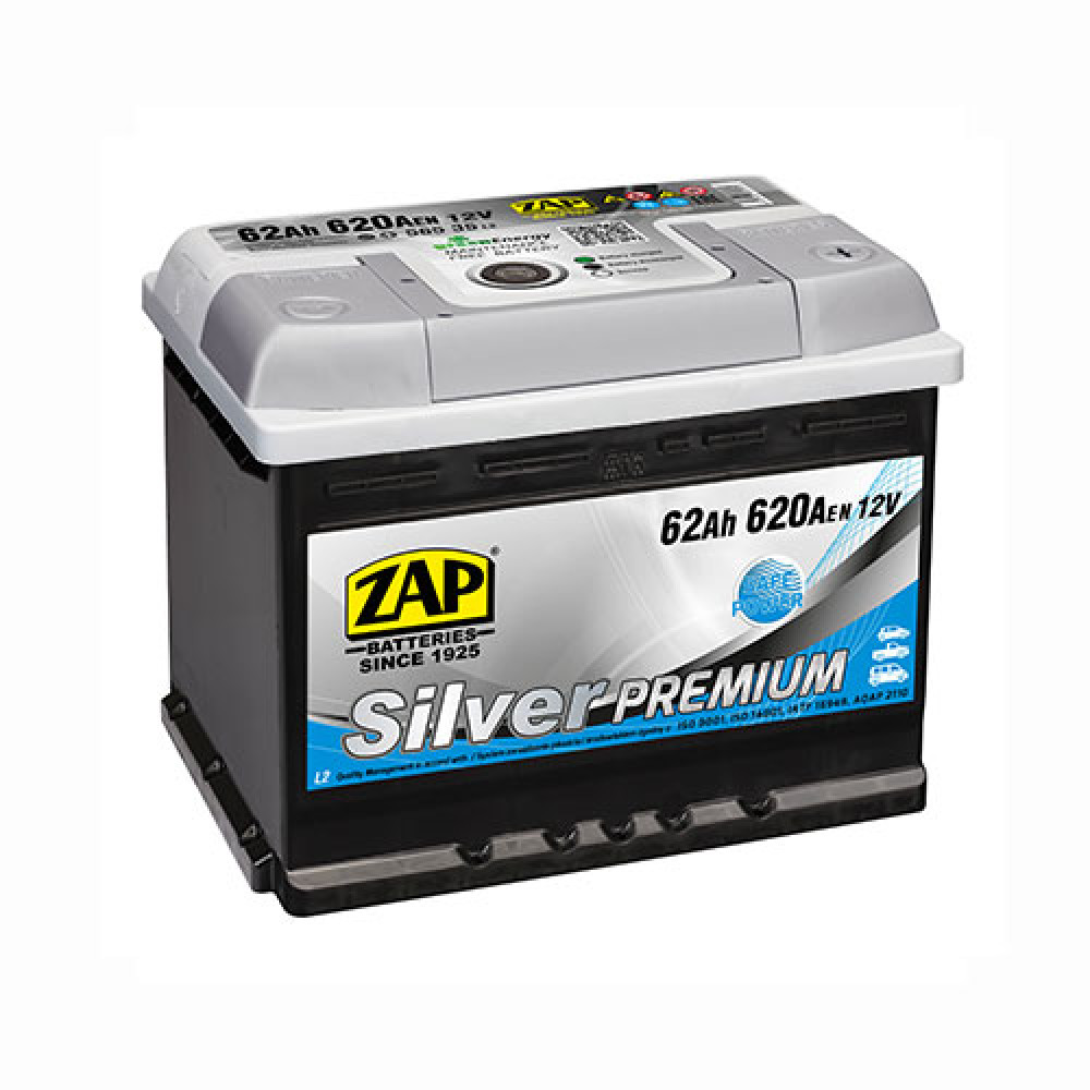 Автомобильный аккумулятор ZAP Silver Premium (562 35) 62Ah 620A R+