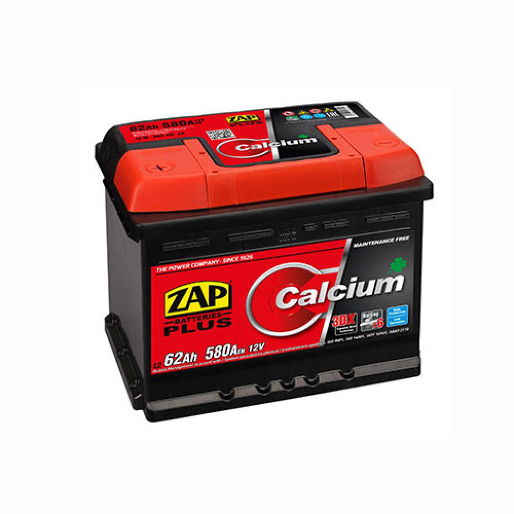 Автомобильный аккумулятор ZAP Plus (562 96) 62Ah 580A L+